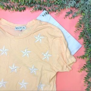 WILDFOX Star Patterned Top Tee